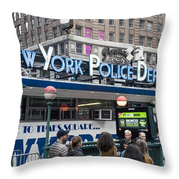 New York's Finest Throw Pillow by Allen Carroll