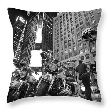 New York's Finest Throw Pillow by Robert Lacy