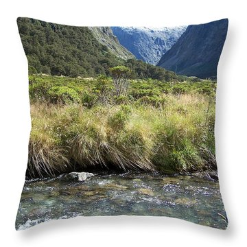 New Zealand Landscape 2 Throw Pillow