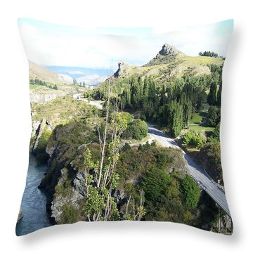 New Zealand Scene Throw Pillow