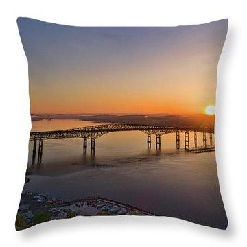 Newburgh-beacon Bridge May Sunrise Throw Pillow
