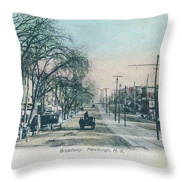 Newburgh Broadway - 04 Throw Pillow