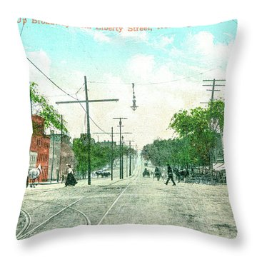 Newburgh Broadway - 09 Throw Pillow
