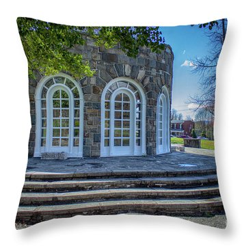 Newburgh Downing Park Shelter House Side View Throw Pillow