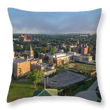 Newburgh New York At Sunrise Throw Pillow