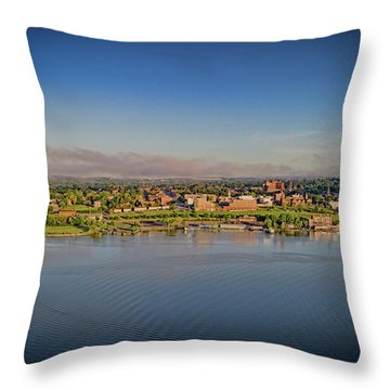 Newburgh, Ny From The Hudson River Throw Pillow