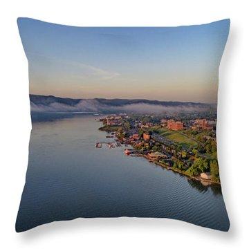 Newburgh Waterfront At Sunrise Throw Pillow