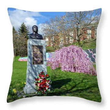 Newburgh's Dr. Martin Luther King Memorial Throw Pillow