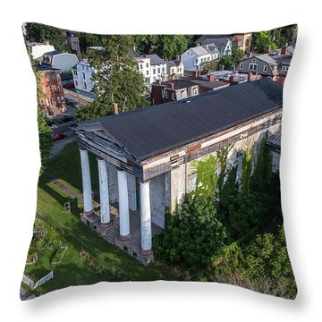 Newburghs Dutch Reformed Church Throw Pillow