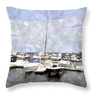Newburyport Harbor Nhwc Throw Pillow