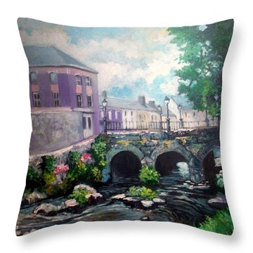 Newcastle West Co Limerick Throw Pillow