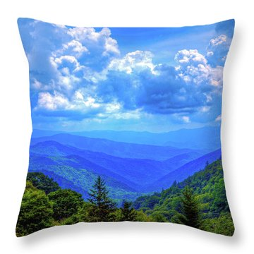 Newfound Gap Throw Pillow by Dale R Carlson