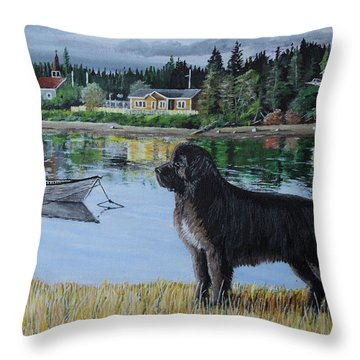 Newfoundland In Labrador Throw Pillow