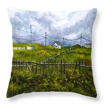 Newfoundland Jig Throw Pillow by Diane Arlitt