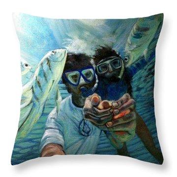 Honeymoon Selfie Throw Pillow