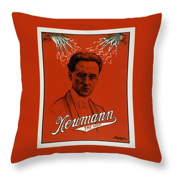 Newmann The Great - Vintage Magic Throw Pillow