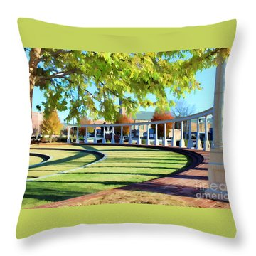 Throw Pillow featuring the photograph Newnan Park Ampitheatre by Roberta Byram