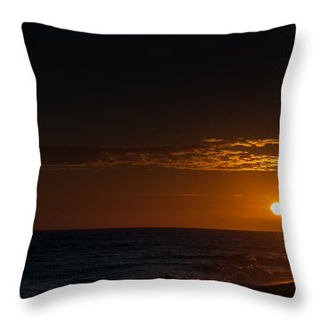 Newport Beach Sunset Throw Pillow