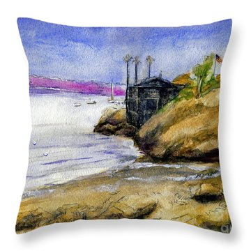 Newport Channel Throw Pillow by Randy Sprout