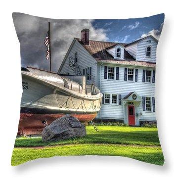 Newport Coast Guard Station Throw Pillow