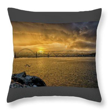 Newport Morning Throw Pillow