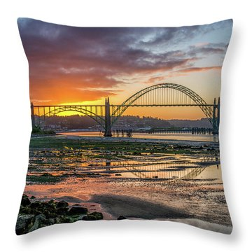 Newport Or Greeting Throw Pillow