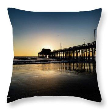 Newport Pier Throw Pillow