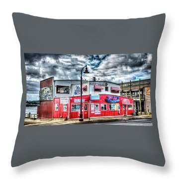 Newport Tradewinds And Mo's Throw Pillow by Thom Zehrfeld