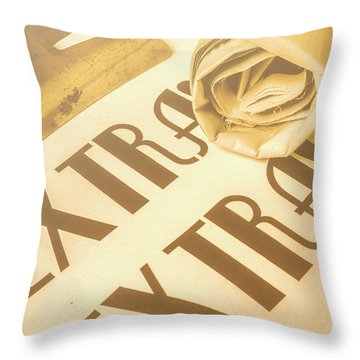 News In Detail Throw Pillow