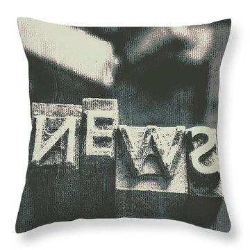 Newspaper Printing Press Art Throw Pillow