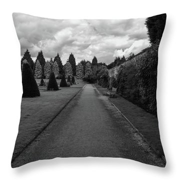 Newstead Abbey Country Garden Gravel Path Throw Pillow