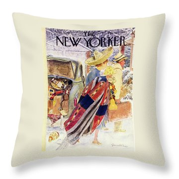 Newyorker January 31 1953 Throw Pillow