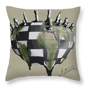 Next Move Throw Pillow by Steve  Hester