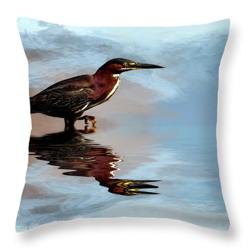 Next Step Throw Pillow by Cyndy Doty