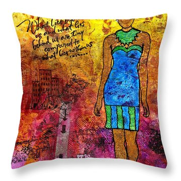 Next Steps Throw Pillow by Angela L Walker