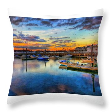 Coastal Colors Throw Pillow