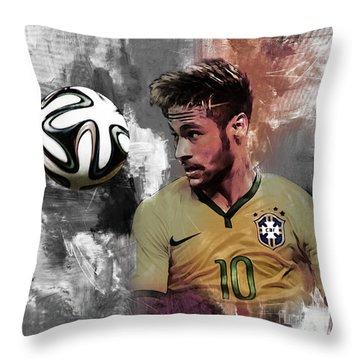 Neymar 051a Throw Pillow