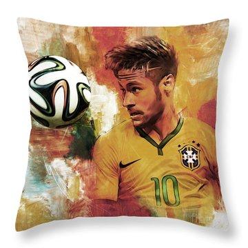 Neymar 05d Throw Pillow