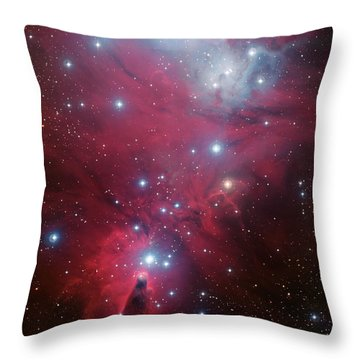 Throw Pillow featuring the photograph Ngc 2264 And The Christmas Tree Star Cluster by Eso