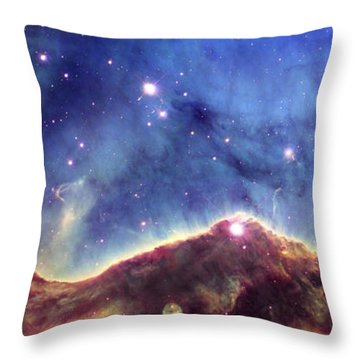 Ngc 3324  Carina Nebula Throw Pillow by Nicholas Burningham