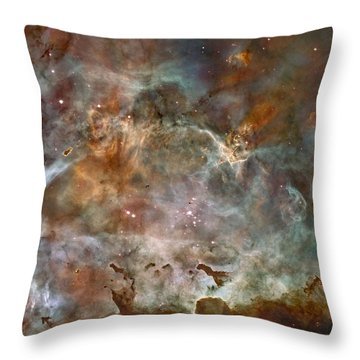 Ngc 3372 Taken By Hubble Space Telescope Throw Pillow