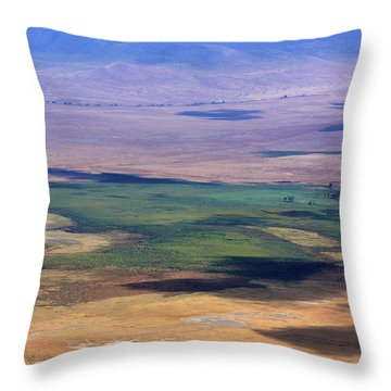 Ngorongoro Crater Tanzania Throw Pillow