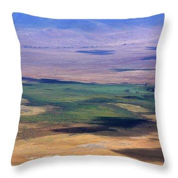 Ngorongoro Crater Tanzania Throw Pillow by Aidan Moran