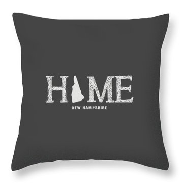 Throw Pillow featuring the mixed media Nh Home by Nancy Ingersoll