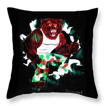 Nhs Bears In Color  Throw Pillow