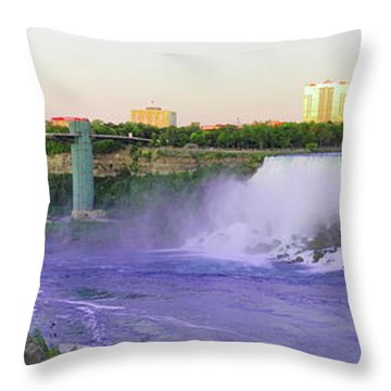 Niagara Falls At Dusk Throw Pillow