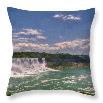 Fall In Niagara Falls Throw Pillow