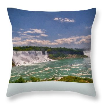 Fall In Niagara Falls Throw Pillow