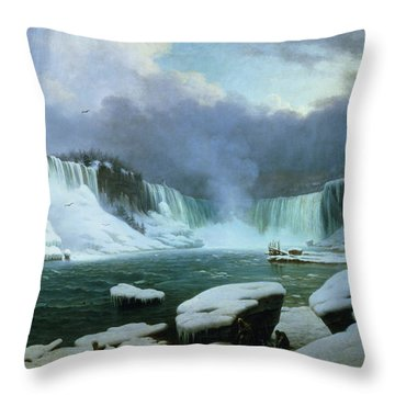 Canadian Indians Paintings Throw Pillows