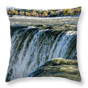 Niagara Falls In Autumn Throw Pillow